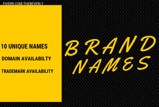 craft 10 business names, brand names, company names
