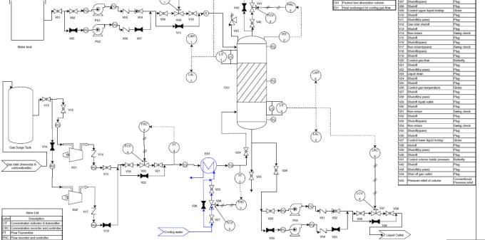 i will draw and label any process flow diagram and pid diagrams