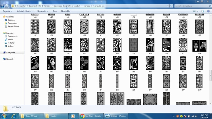 900 Geometric Pattern Panel Templates Dxf File Laser Cut