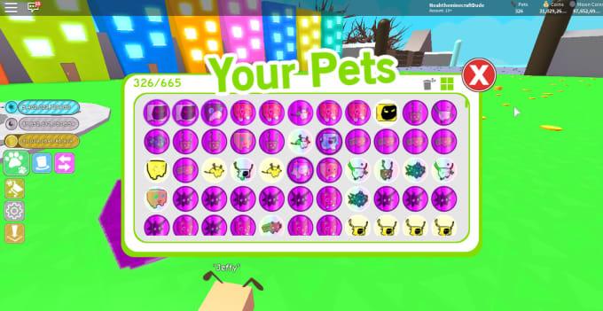 sell pets in roblox pet simulator