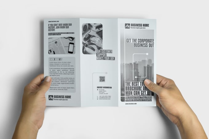 design trifold brochure with adobe indesign
