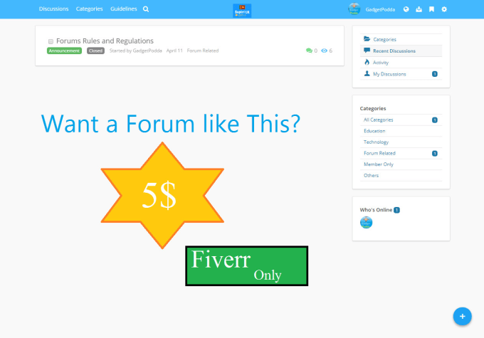 create a beautiful vanilla forum for you
