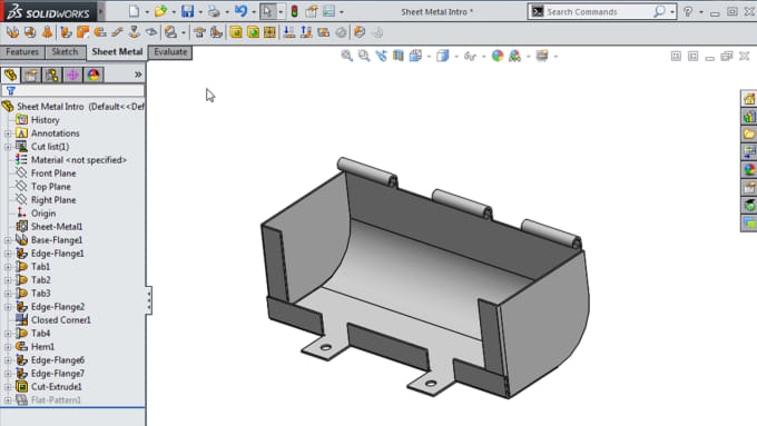 Any Sheet Metal Drawing In Solidworks By Mohamedgada