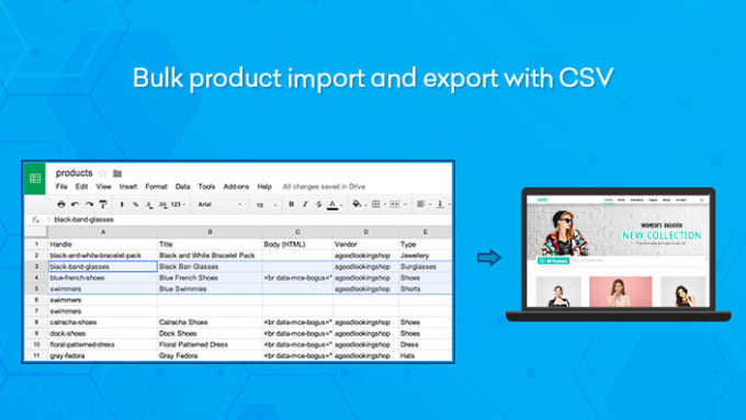 do CSV product import to ecommerce inventory