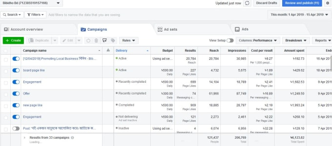 be your facebook ad campaign manager