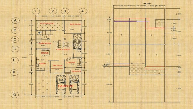 draw and convert architectural drawing to autocad super fast