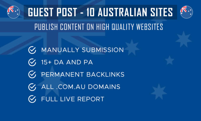 publish guest posts on high authority australian sites