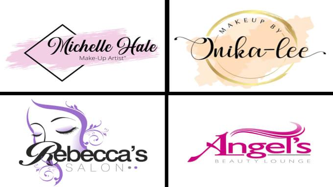 cosmetic makeup salon logo design