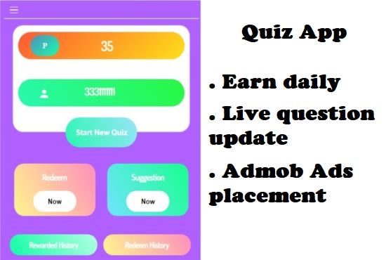 develop a quiz app make daily 100 of dollars