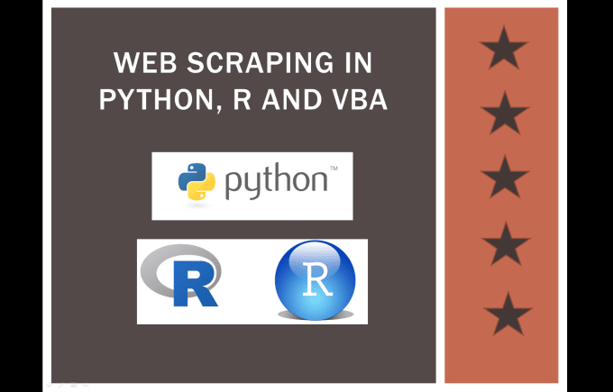 do web scraping,data mining,automation with python r script
