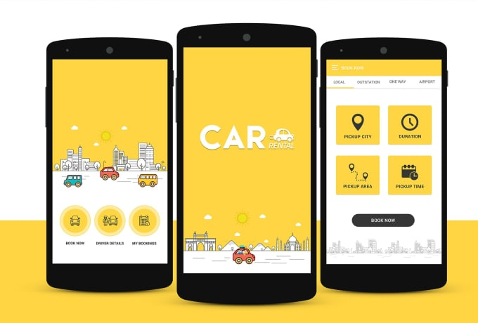 create and develop a car rental app for you