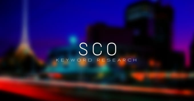 do sco keyword research on your niche