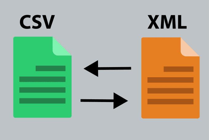 convert your xml file into csv or vice versa using python