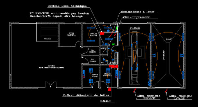 i will do your electrical plans autocad