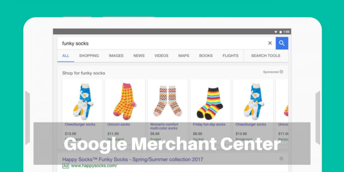 google merchant center with product data feed