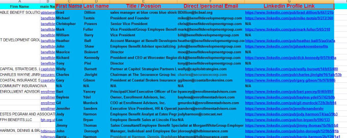 provide direct valid Email List of Decision Maker