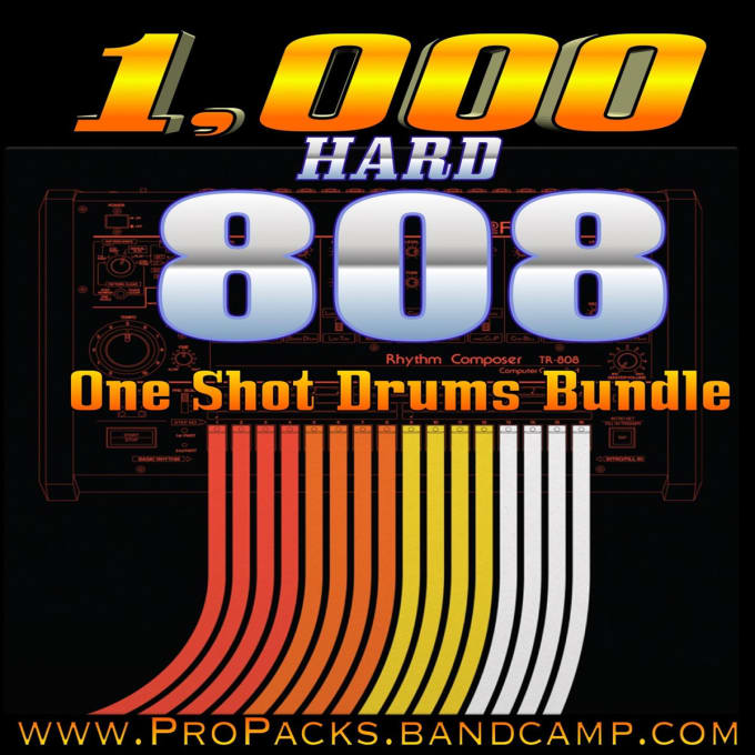 provide you with 1,000 trap,edm,hip hop 808 drum one shot samples