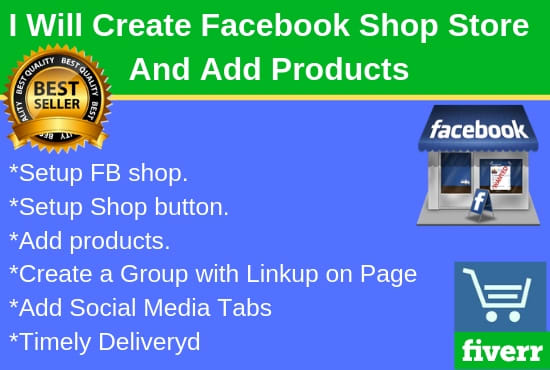 create facebook shop store and add products