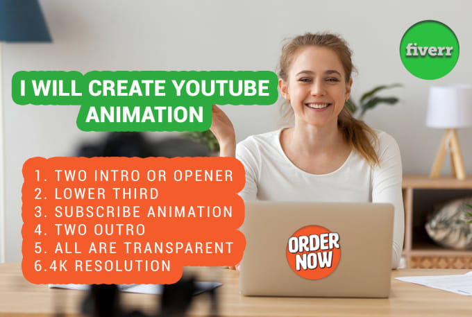 create 4k youtube animated transparent branding for you