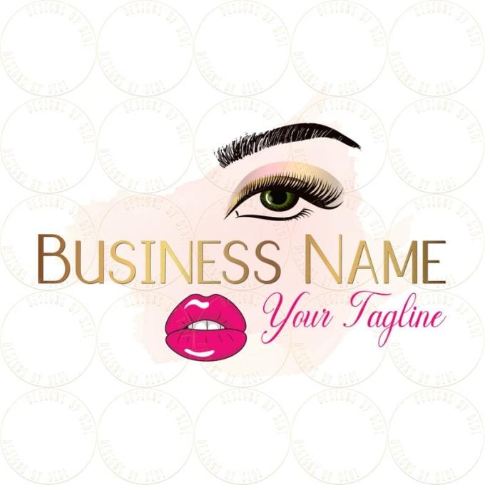 create 2 beautiful eye lashes logo