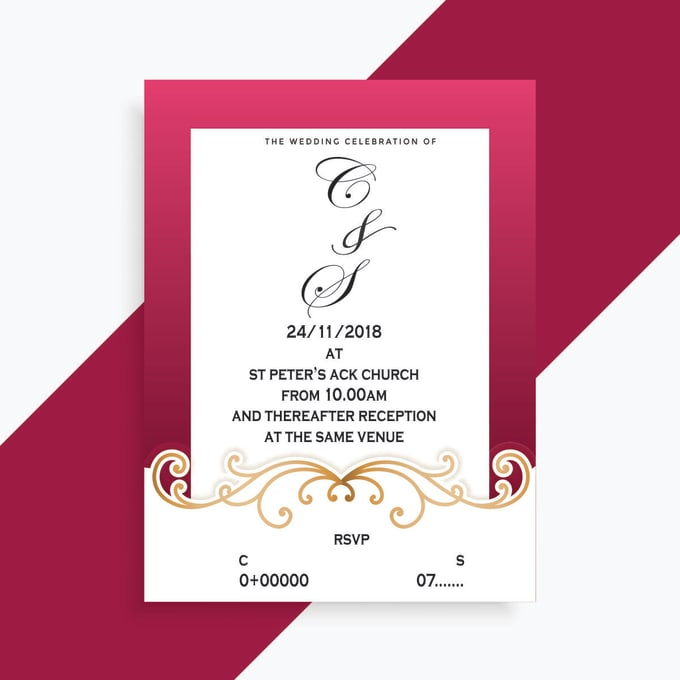 Shiben I Will Get Beautiful Wedding Invitation Cards For 5 On Www Fiverr Com