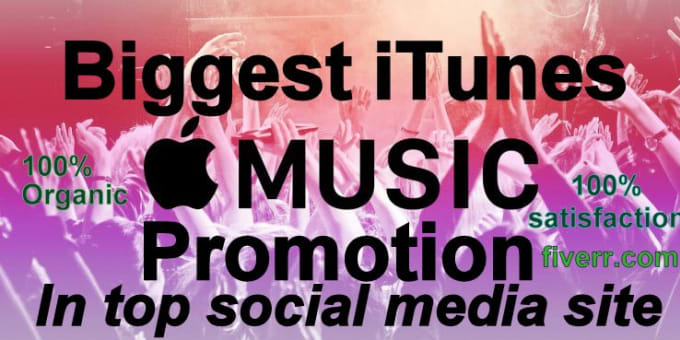 do promote your itunes apple music in social media site