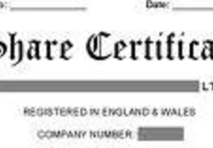 Create a share certificate for a uk registered limited company by ...