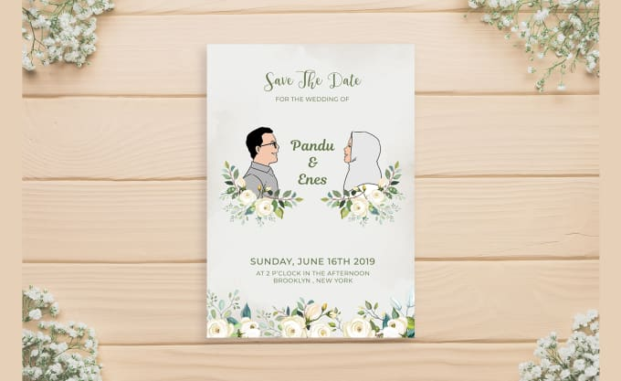 Create Your Illustrated Wedding Invitation In My Own Style By