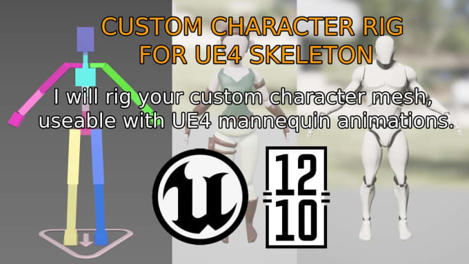 rig a custom character for ue4 animations