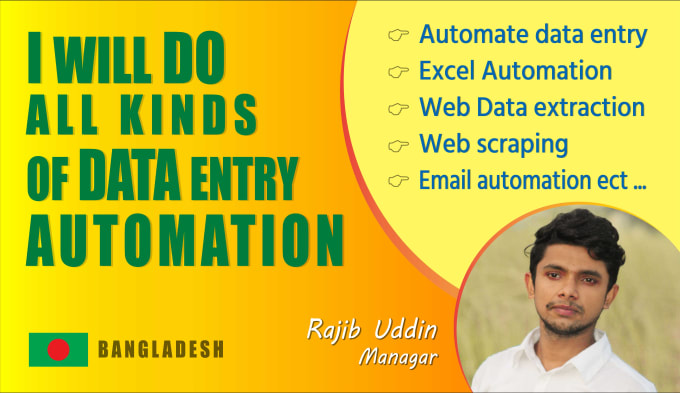 do all kinds of data entry automation rpa uipath robot