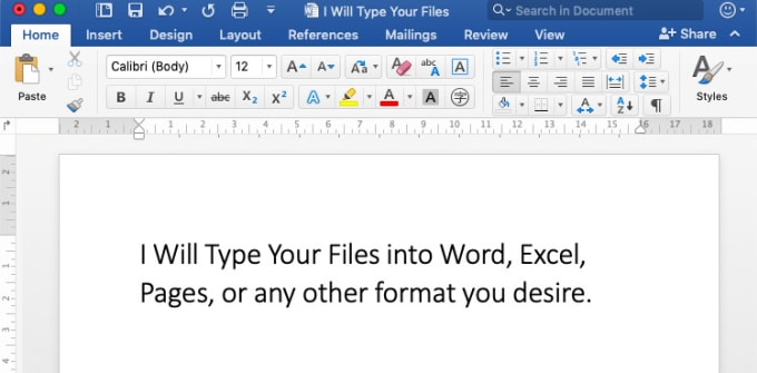 transcribe text from PDF or image to word or pages