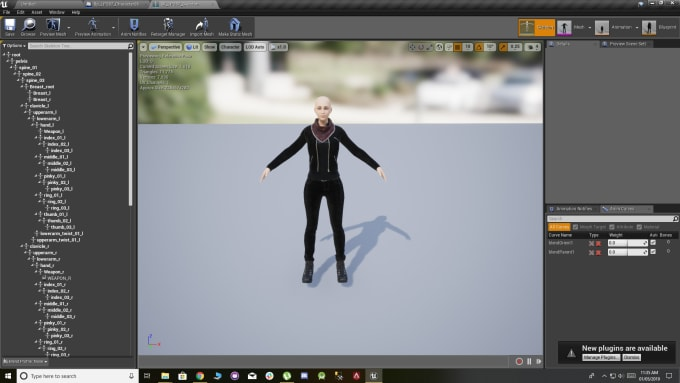 usama201 : I will rig a complete skeletal mesh, ready for use in ue4 for  $150 on www fiverr com