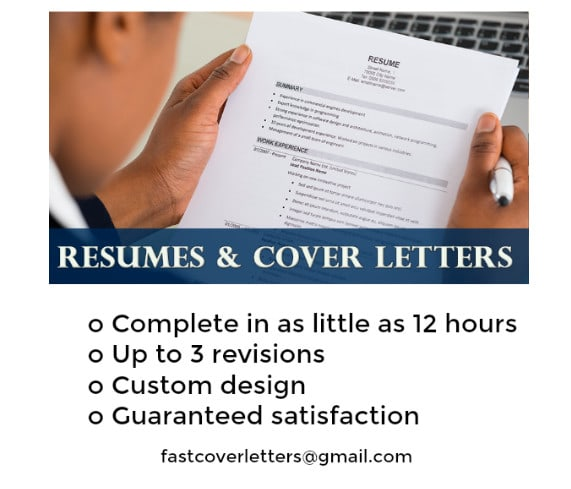 I Will Draft Your Perfect Cover Letter And Resume Fast Fastcoverletter