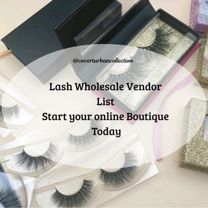 coverturban : I will compile a verified mink lashes vendor list for $35 on  www fiverr com