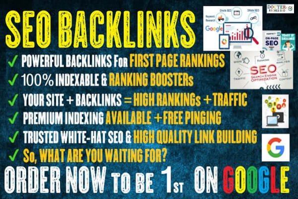 rank you first page in google with SEO backlinks