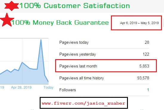 provide google organic traffic 1 month