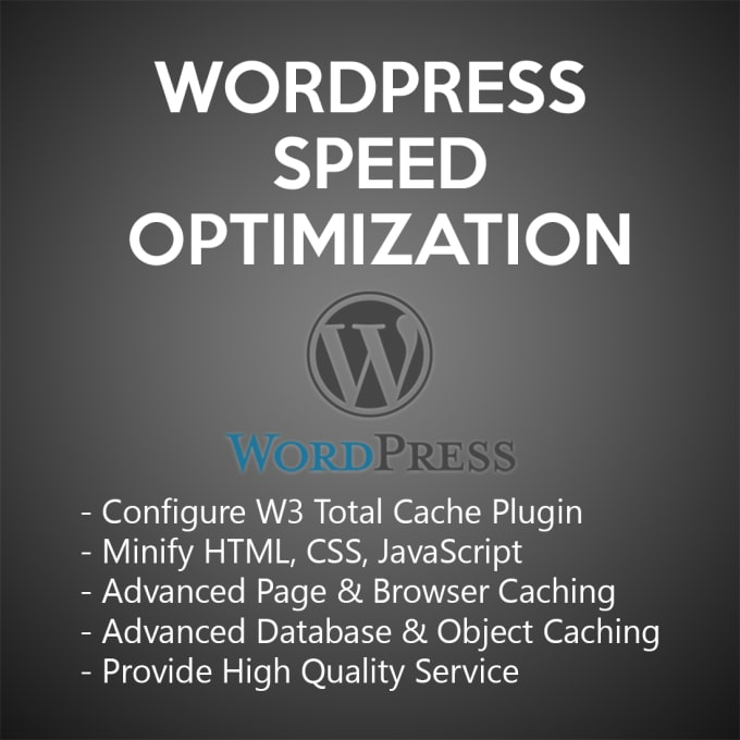 Speed up wordpress site with w3 total cache plugin by Driver
