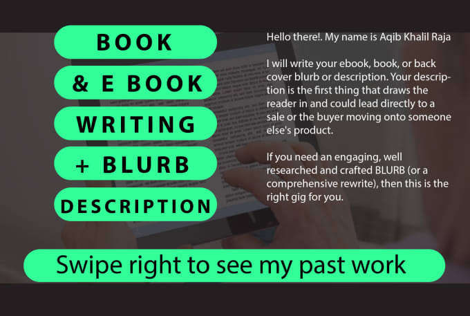Write Blurb Or Complete Ebook On Given Topic