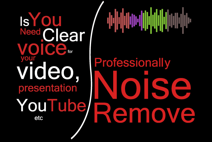 remove background noise and clean your audio file in 30hours