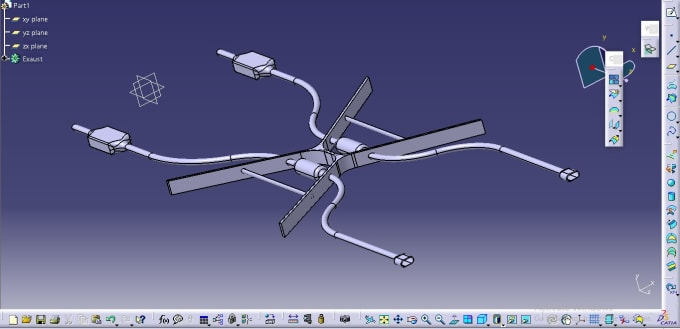 make 3d designs and 2d drawings using catia v5 and solidworks
