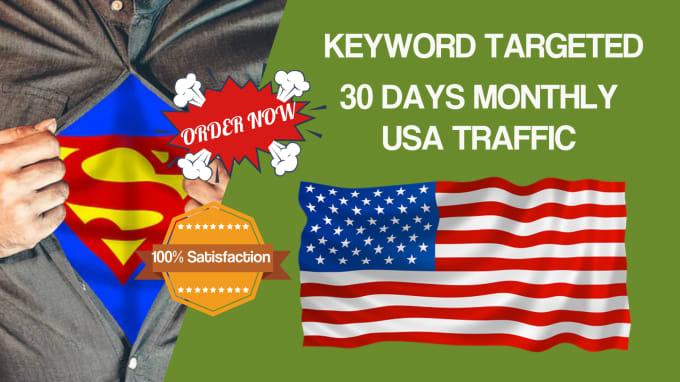 organic real human keyword targeted USA adsense safe traffic