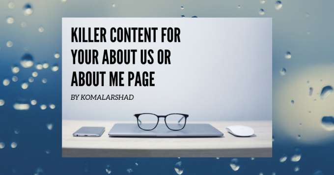 write professional killer about us page for you