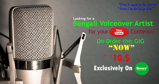 do bengali voiceover for your youtube contents just in 24hrs