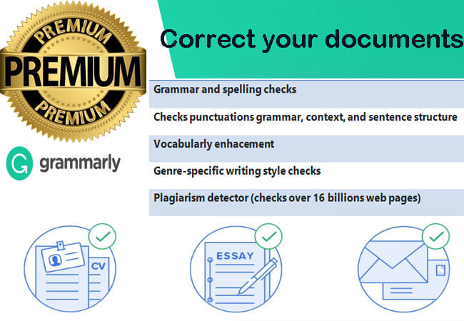 Correct your documents using grammarly premium by Sudathmango