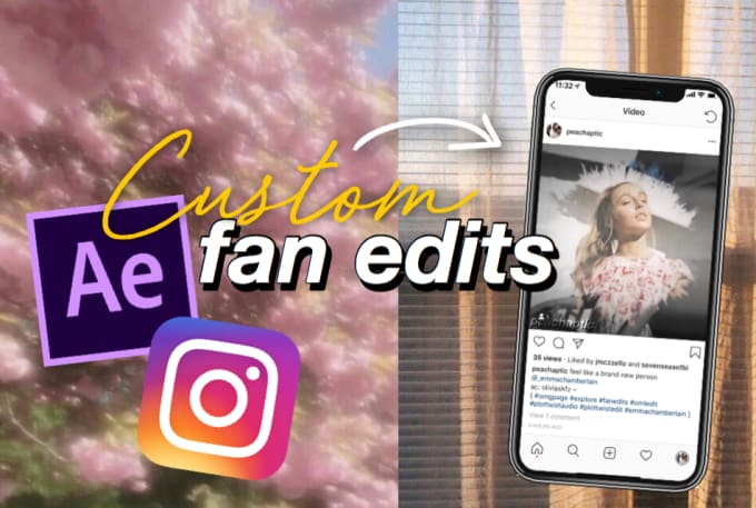 make a custom instagram fan edit