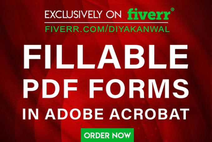 create fillable PDF forms in adobe acrobat dc