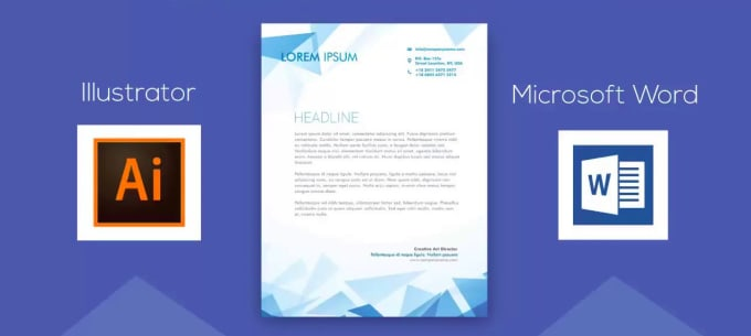 design a professional letterhead including source code, ms word and pdf  format