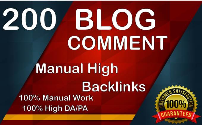 do blog comment backlinks for SEO