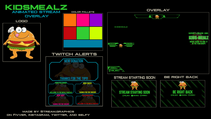 make twitch overlays and stream packages