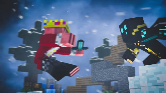 Make An 3d Minecraft Cover Photo Or Desktop Wallpaper By Slymeee